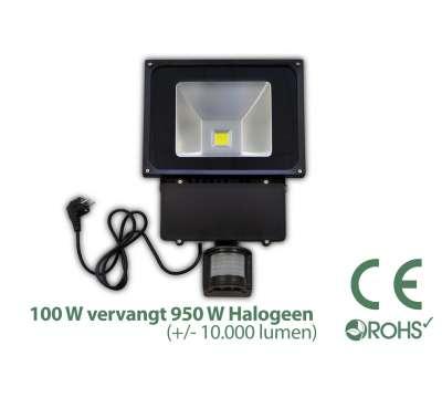100 Watt LED Baustrahler MIT Bewegungsmelder