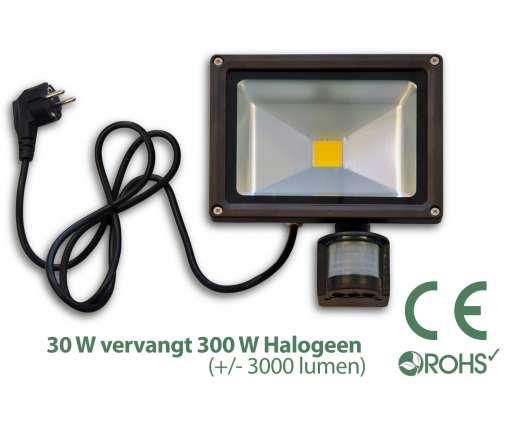30 Watt LED Baustrahler MIT Bewegungsmelder