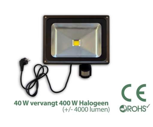 40 Watt LED Baustrahler MIT Bewegungsmelder