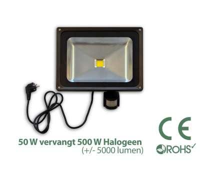 50 Watt LED Baustrahler MIT Bewegungsmelder