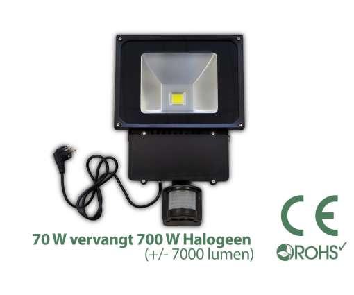 70 Watt LED Baustrahler MIT Bewegungsmelder