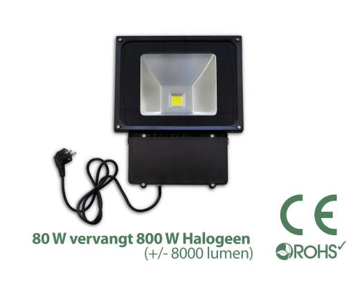 80 Watt LED Baustrahler / LED Fluter