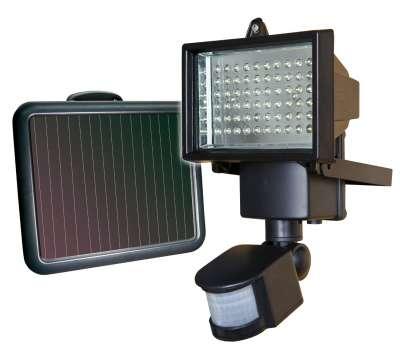 Led Bouwlamp met solar paneel en sensor en accu
