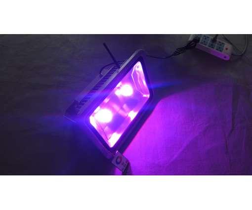 150 Watt LED Baustrahler mit RGB / LED Fluter mit