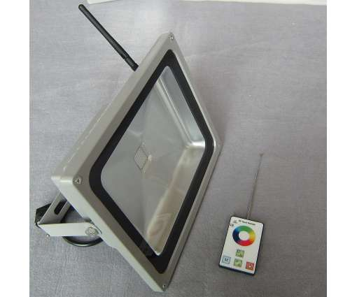 30 Watt LED Baustrahler mit RGB / LED Fluter mit R